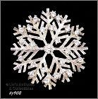 EISENBERG ICE � SNOWFLAKE WITH CLEAR RHINESTONES PIN