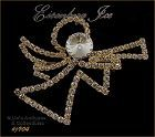 EISENBERG ICE � RHINESTONE ANGEL WITH TRUMPET PIN (2 AVAILABLE)