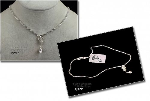 EISENBERG ICE � SPARKLY CLEAR PRONG-SET RHINESTONE NECKLACE