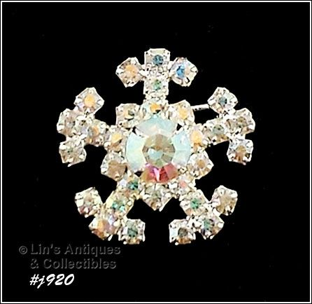 EISENBERG ICE AURORA BOREALIS RHINESTONES SNOWFLAKE PIN 3 AVAILABLE