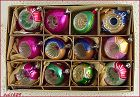 1 DOZEN VINTAGE REFLECTOR CHRISTMAS ORNAMENTS