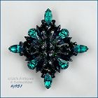 EISENBERG ICE SHADES OF GREEN DIAMOND SHAPED PIN 2 AVAILABLE