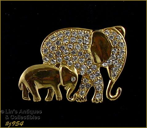EISENBERG ICE -- MAMA ELEPHANT WITH BABY ELEPHANT PIN