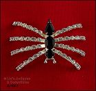 EISENBERG ICE RHINESTONE SILVER TONE SPIDER ON RAISED LEGS PIN
