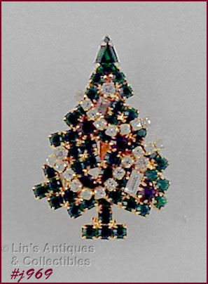 EISENBERG ICE � SMALL GARLAND CANDLE CHRISTMAS TREE PIN