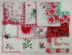 Vintage Hanky Lot of One Dozen Vintage Not Perfect Christmas Hankies
