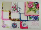 Vintage Hanky Lot of One Dozen Vintage Barely Imperfect Handkerchiefs