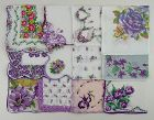 Vintage Hanky Lot of One Dozen Assorted Purple Vintage Handkerchiefs