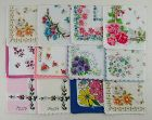 Hanky Lot of One Dozen Assorted Newer Vintage Hankies Handkerchiefs