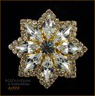 EISENBERG ICE STAR SHAPED PIN WITH PRONG SET CLEAR RHINESTONES