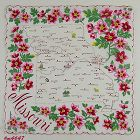 VINTAGE STATE SOUVENIR HANDKERCHIEF FOR MISSOURI