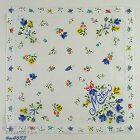 BLUE ROSES VINTAGE HANDKERCHIEF FOR MOTHER