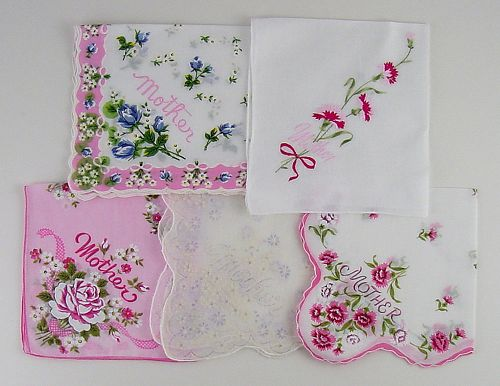 YOUR CHOICE OF VINTAGE HANDKERCHIEF FOR MOTHER Some have Sold