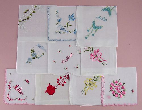 CHOICE OF VINTAGE HANDKERCHIEF FOR MOTHER SEE LISTING FOR AVAILABILITY