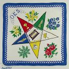 VINTAGE ORDER OF THE EASTERN STAR HANDKERCHIEF