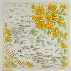 VINTAGE STATE SOUVENIR HANDKERCHIEF FOR CALIFORNIA