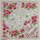 VINTAGE STATE SOUVENIR HANDKERCHIEF FOR WEST VIRGINIA