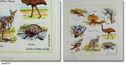 AUSTRALIA SOUVENIR HANDKERCHIEF DESIGNED BY HEIL