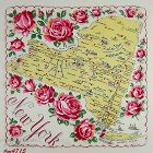 STATE SOUVENIR VINTAGE HANDKERCHIEF HANKY FOR NEW YORK