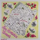 VINTAGE STATE SOUVENIR HANKY FOR NEW HAMPSHIRE AND VERMONT