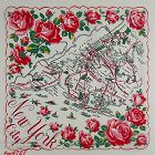 VINTAGE SOUVENIR HANDKERCHIEF HANKY FOR NEW YORK CITY