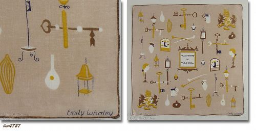 SOUVENIR WILLIAMSBURG IN VIRGINIA HANKY SIGNED BY EMILY WHALEY
