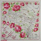 STATE SOUVENIR VINTAGE HANKY HANDKERCHIEF FOR NEW YORK