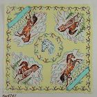 VINTAGE HORSES AND HORSESHOES HANKY HANDKERCHIEF