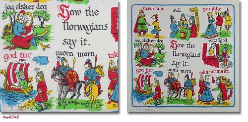 VINTAGE HOW THE NORWEGIANS SAY IT HANDKERCHIEF HANKY