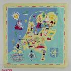 VINTAGE SOUVENIR HANDKERCHIEF HANKY FOR THE NETHERLANDS