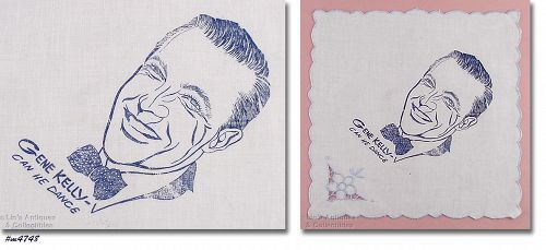 GENE KELLY CAN HE DANCE VINTAGE NAPKIN
