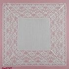 VINTAGE WHITE WEDDING HANDKERCHIEF WITH 3 3/4 INCH LACE EDGING