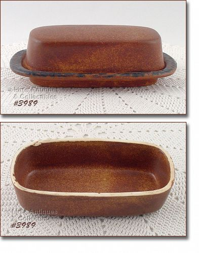 McCoy Pottery Canyon Covered Butter Dish