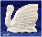 McCOY POTTERY VINTAGE UNMARKED MATTE WHITE SWAN PLANTER