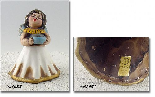 ORIGINAL BOZNER VINTAGE ANGEL INCENSE BURNER MADE IN ITALY