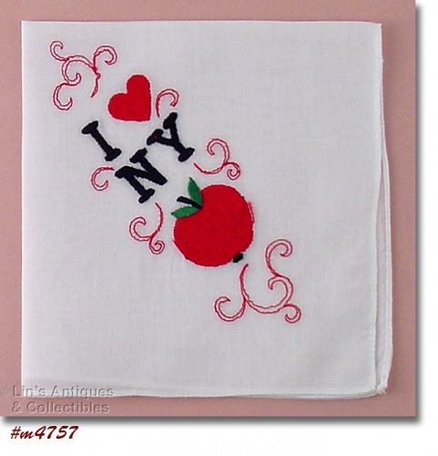 I HEART (LOVE) NEW YORK SOUVENIR HANDKERCHIEF