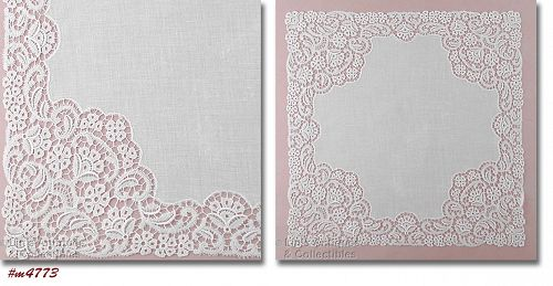 VINTAGE WHITE WEDDING HANDKERCHIEF