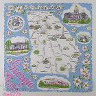 VINTAGE STATE SOUVENIR HANKY FOR GEORGIA THE PEACH STATE