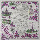 VINTAGE STATE SOUVENIR HANKY FOR ILLINOIS THE PRAIRIE STATE