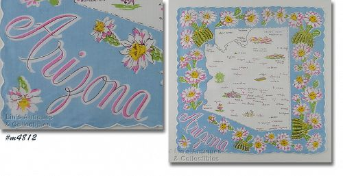 VINTAGE STATE SOUVENIR HANDKERCHIEF FOR ARIZONA