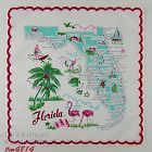 VINTAGE STATE SOUVENIR HANDKERCHIEF FOR FLORIDA