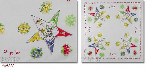 VINTAGE ORDER OF EASTERN STAR HANDKERCHIEF