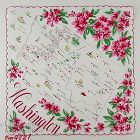 VINTAGE STATE SOUVENIR HANDKERCHIEF FOR WASHINGTON