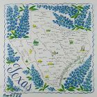VINTAGE STATE SOUVENIR HANDKERCHIEF FOR TEXAS