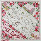 VINTAGE STATE SOUVENIR HANKY FOR NORTH DAKOTA