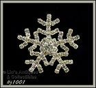EISENBERG ICE RHINESTONE SNOWFLAKE PIN TWO AVAILABLE