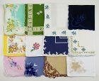 Vintage Hanky Lot of One Dozen Assorted Vintage Hankies Handkerchiefs