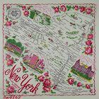 VINTAGE STATE SOUVENIR HANKY FOR NEW YORK THE EMPIRE STATE