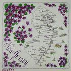 STATE SOUVENIR VINTAGE HANDKERCHIEF FOR NEW JERSEY