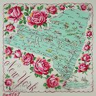 VINTAGE STATE SOUVENIR HANDKERCHIEF FOR NEW YORK